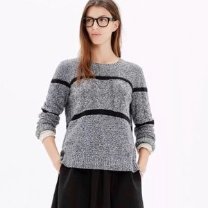 Madewell | 'Patternstorm' Striped Cable-Knit